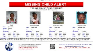 Iyana Sailor, 8, Nahlia Wade, 4, and Noelle Wade, 1, could be with 25-year-old ShaunQue Sailor