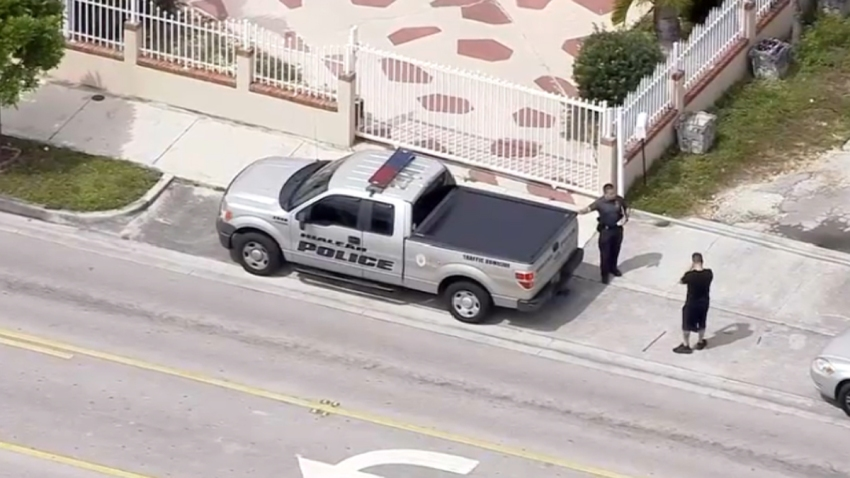 Scene of a police-involved shooting in Hialeah on March 11, 2020.