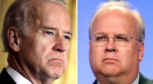 041009 Joe Biden Karl Rove split