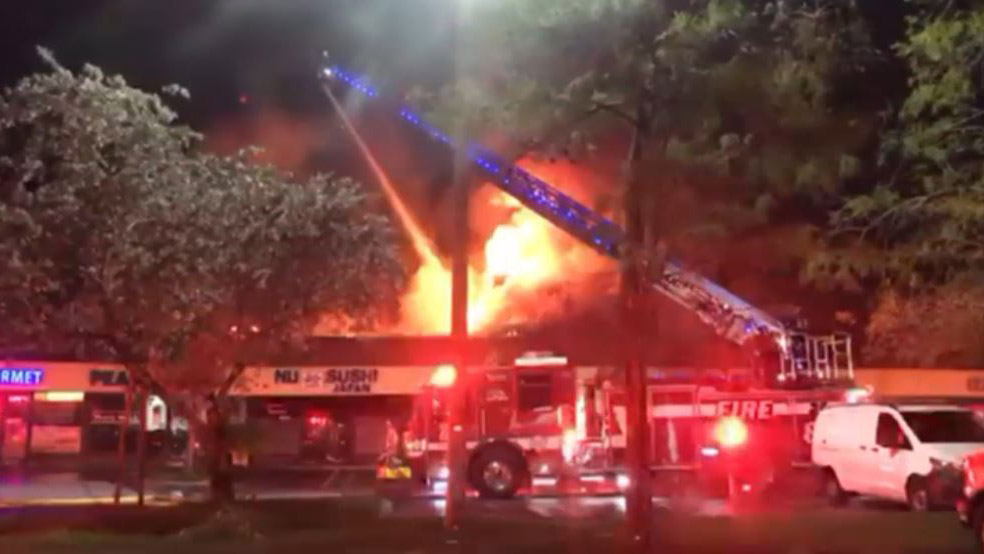 Fire Crews Battle Flames at Coral Springs Strip Mall