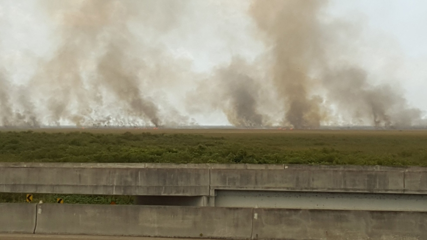 062519 Florida Everglades brush fire