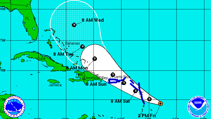 090911 tropical storm maria 2 pm friday