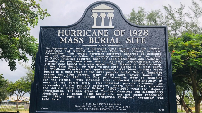 092019 1928 hurricane mass burial site