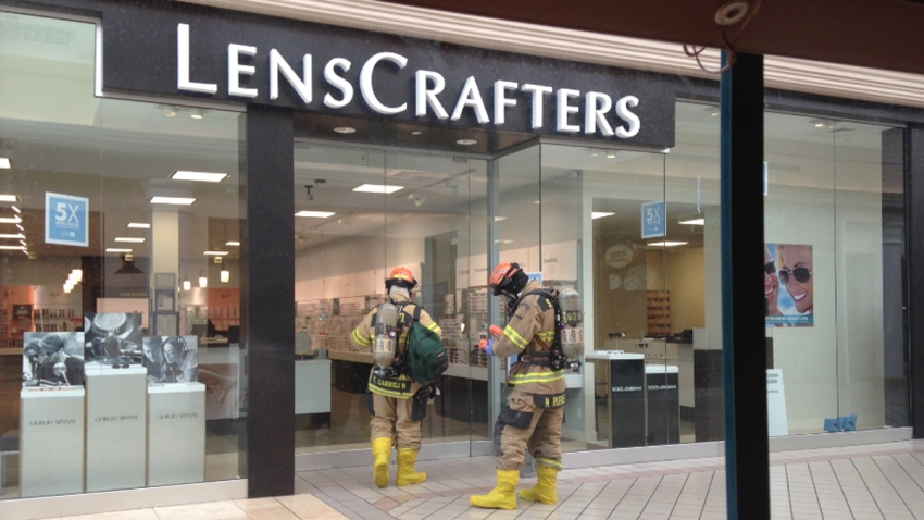 101513 sarasota westfield southgate shopping center lenscrafters hazmat