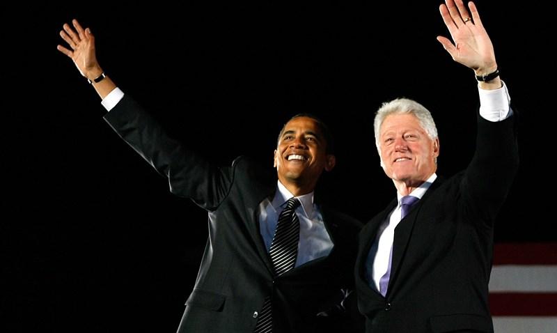 103008 Obama Clinton Lead Image