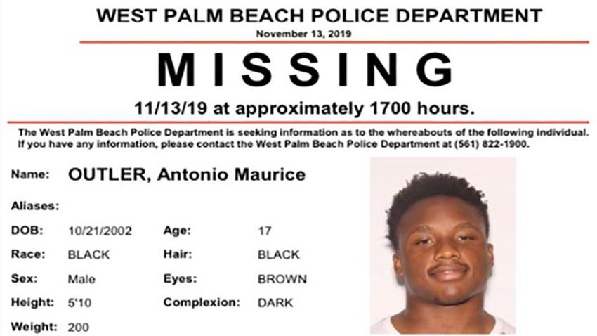 111419 missing high school football player west palm beach