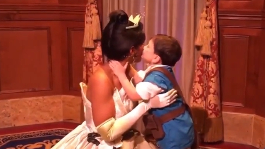 Mother Captures Autistic Son's Moments With Disney Princesses