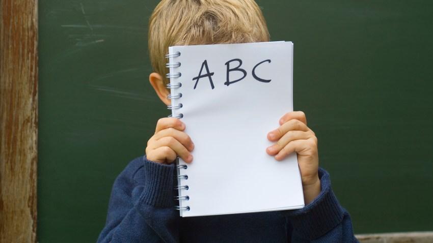 chalk board boy