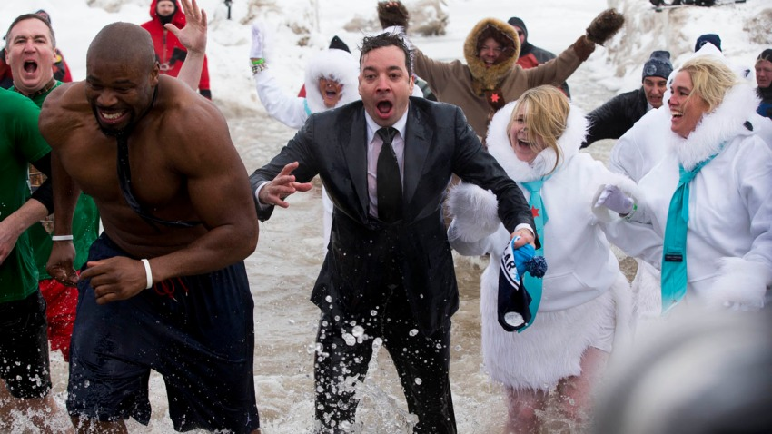 APTOPIX Jimmy Fallon Polar Plunge