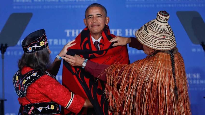 APTOPIX Obama Native Americans