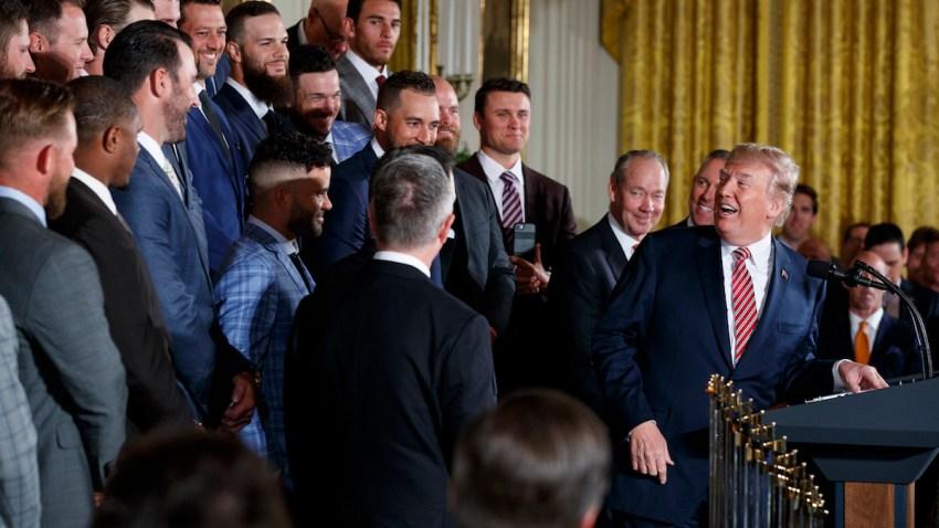 Trump Astros Baseball