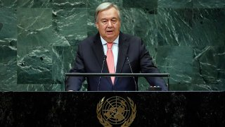 Antonio Guterres addresses the 73rd session of the United Nations General Assembly