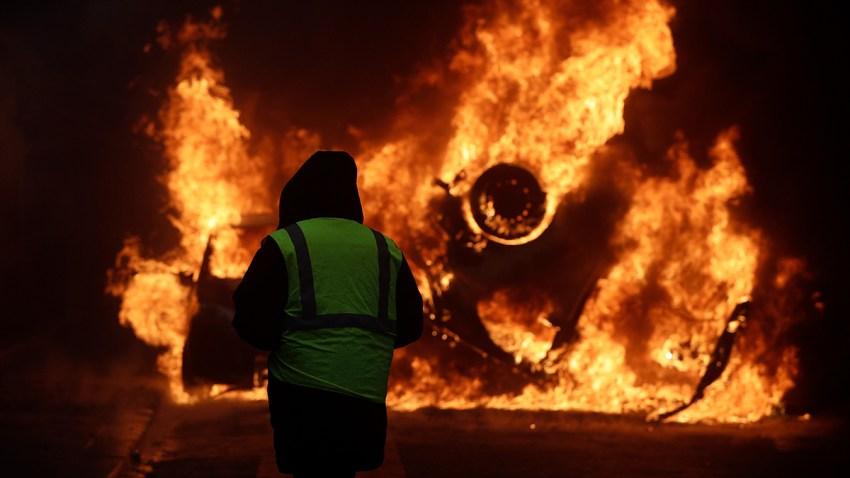 APTOPIX France Gas Price Protests