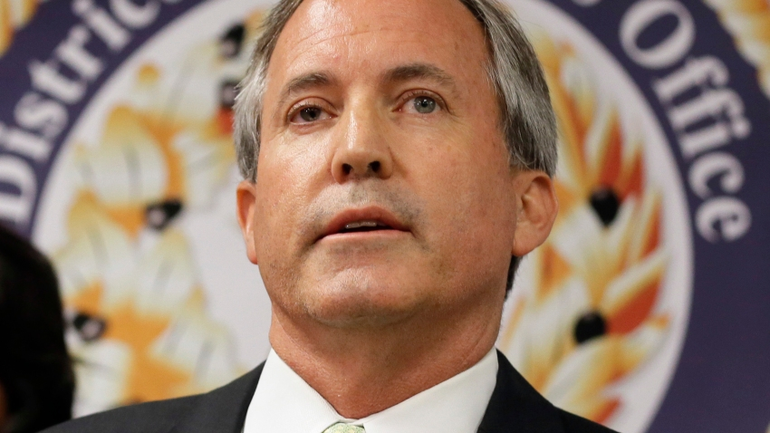 FILE - In this June 22, 2017, file photo, Texas Attorney General Ken Paxton speaks at a news conference in Dallas.