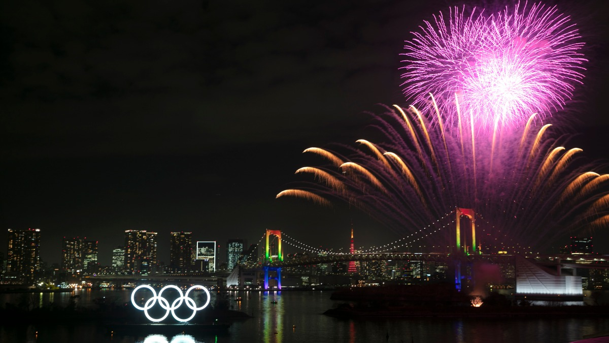 Tokyo Mark 6 Months Until Summer Olympics With Fireworks Show