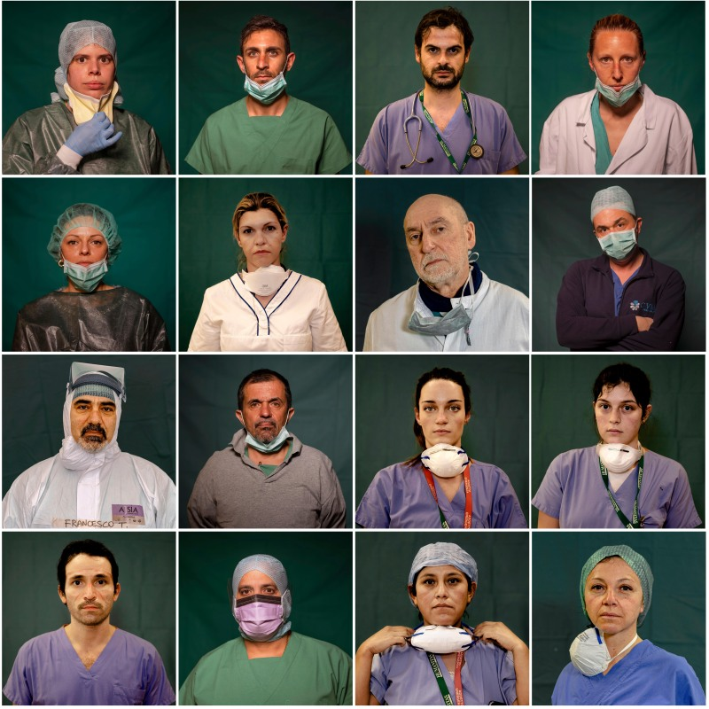 Italy's Heroes: Faces of the Front Line Against Coronavirus Fight