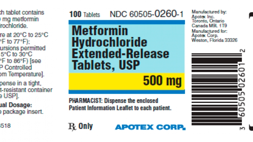 a label for the drug metformin