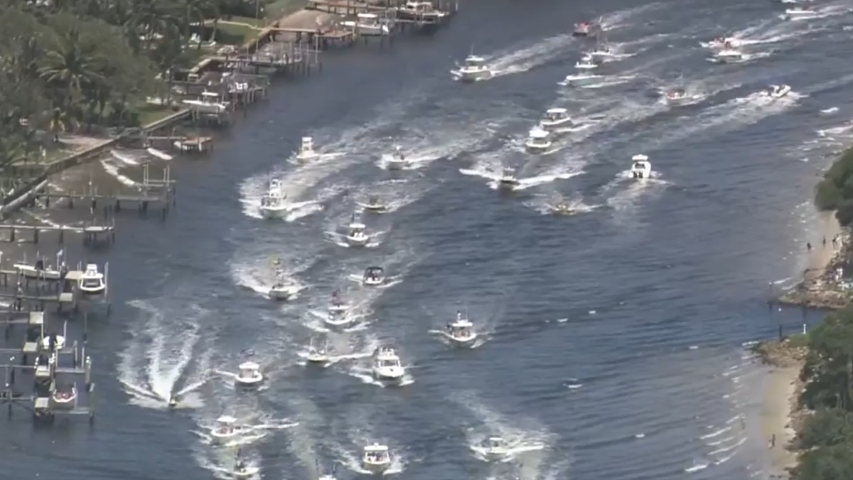 Hundreds Of Boats Gather For Parade Supporting Trump Near Mar A Lago Nbc 6 South Florida