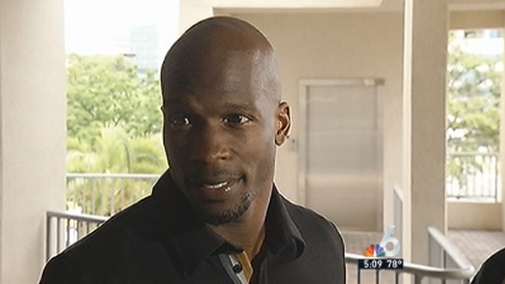 Chad Johnson after release from jail