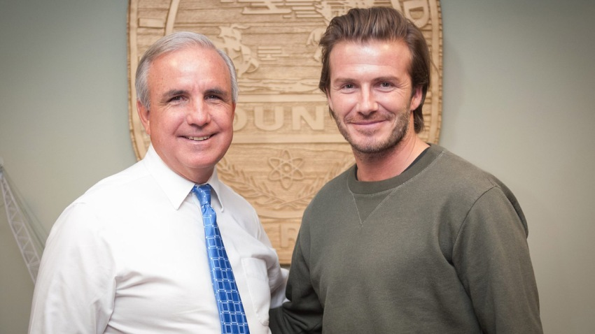 David Beckham and Carlos Gimenez