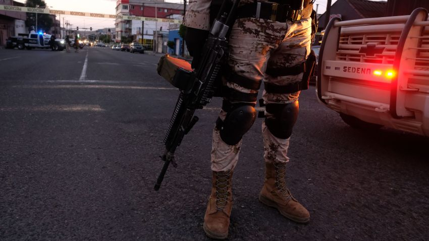 Mexican Soldiers in downtown Tijuana