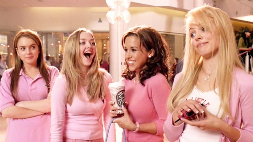 The cast of Mean Girls, including actresses Lindsay Lohan, Amanda Seyfried, Lacey Chabert and Rachel McAdams.