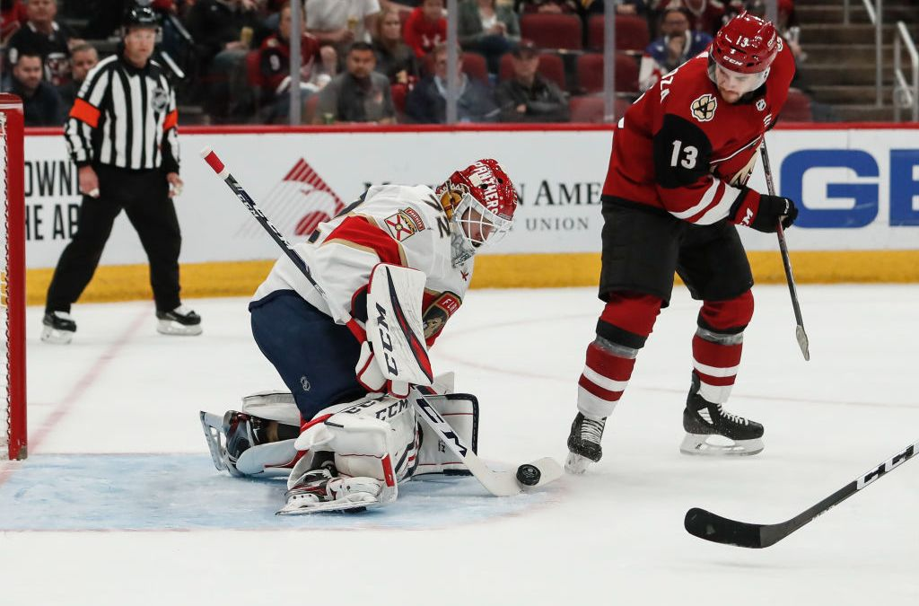 Bobrovsky Stops 36 Shots in Florida Panthers' Win Over Arizona Coyotes
