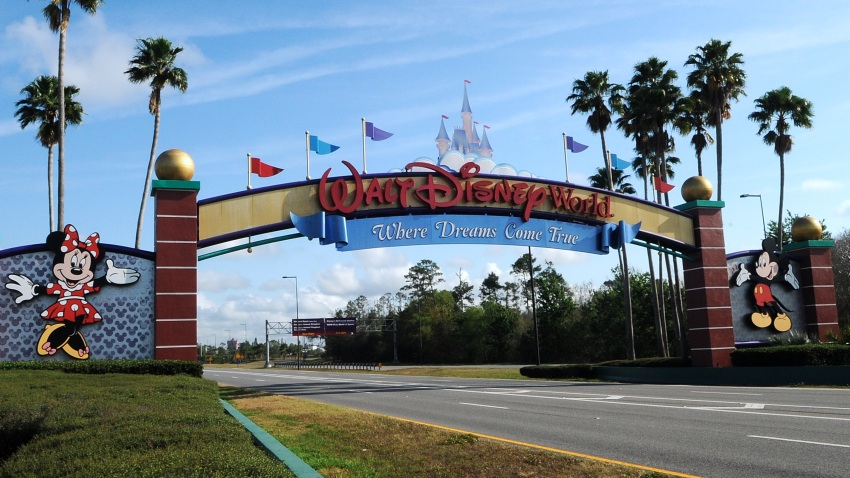 The entrance to Walt Disney World