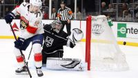 Vilardi Scores Quickly in NHL Debut as L.A. Kings Defeat Florida Panthers