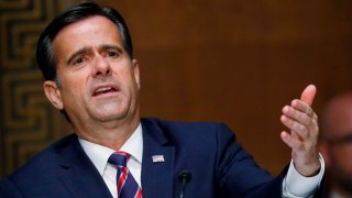 Rep. John Ratcliffe, R-Texas, testifies before a Senate Intelligence Committee nomination hearing on Capitol Hill in Washington, D.C., on May 5, 2020.