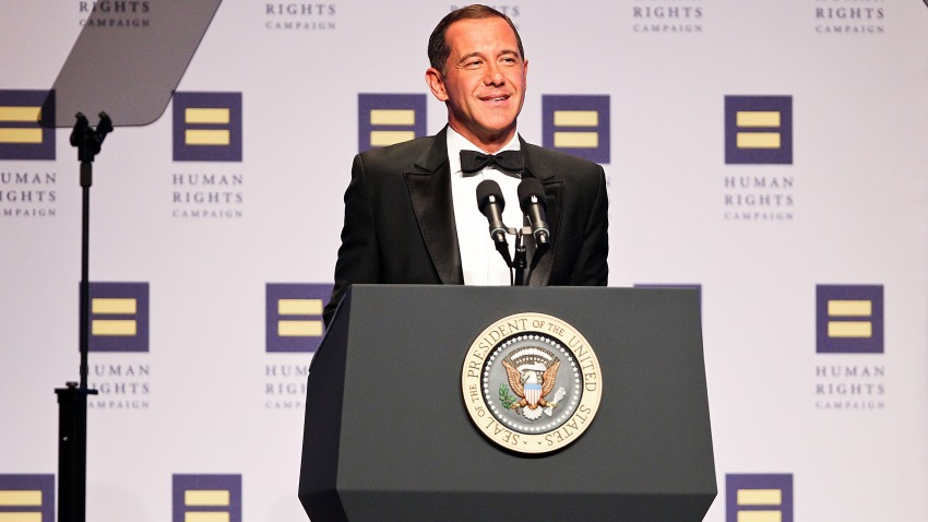 Former HRC President Joe Solmonese speaks at the 15th Annual Human Rights Campaign National Dinner at the Washington Convention Center on October 1, 2011 in Washington, DC.