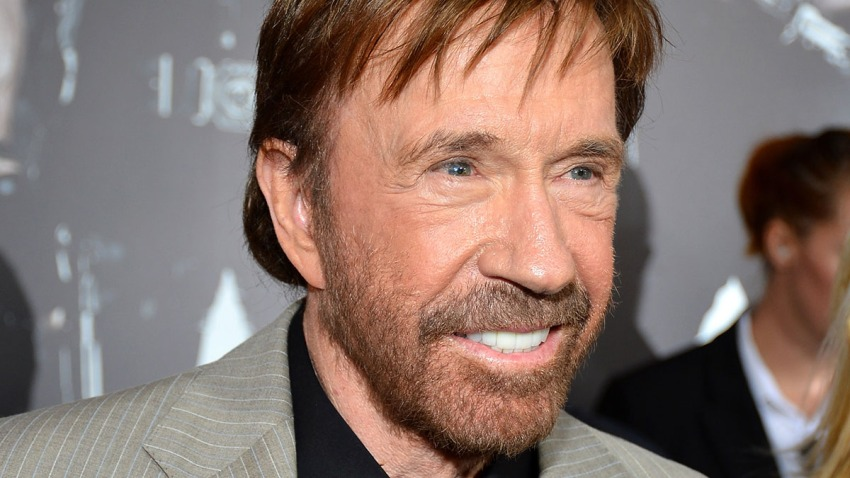 """In this Aug. 15, 2012, file photo, actor Chuck Norris arrives at Lionsgate Films' """"The Expendables 2"""" premiere in Hollywood, California."""