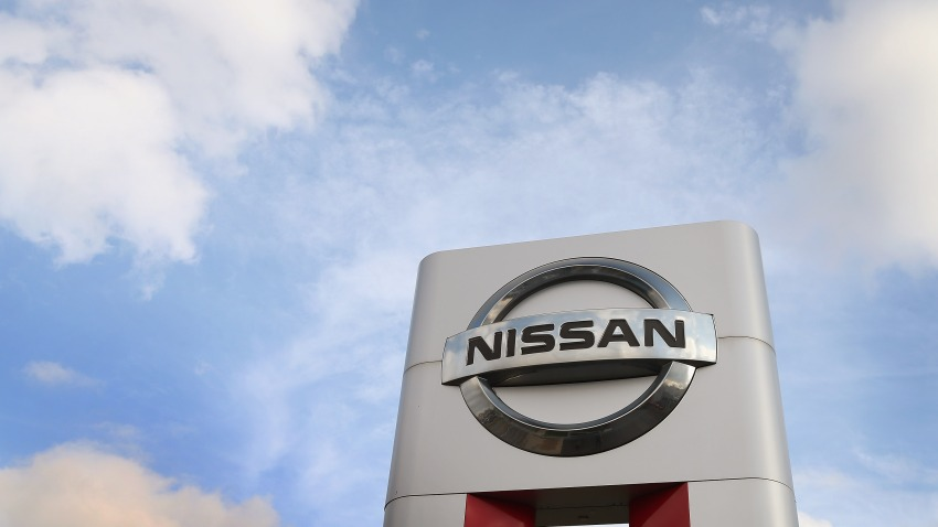 A Nissan sign