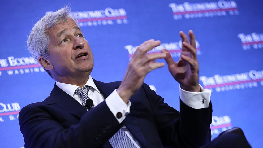 In this file photo, Jamie Dimon, Chairman and CEO of JPMorgan Chase & Co., speaks at the Economic Club of Washington September 12, 2016 in Washington, DC.