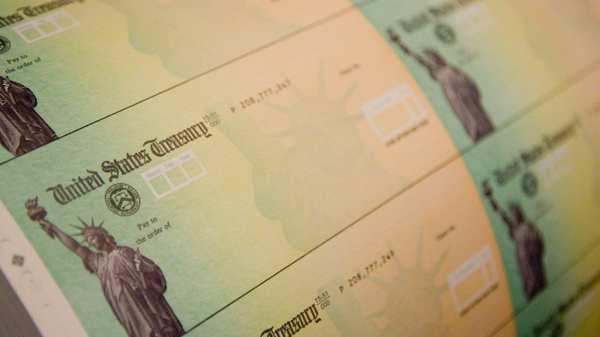 Getty Images: Economic Stimulus Package Tax Rebate Checks Printed