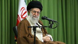 Iran's Supreme Leader Ayatollah Ali Khamanei speaks