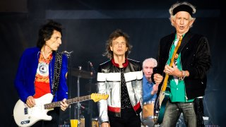 The Rolling Stones perform live on stage at London Stadium on May 22, 2018 in London, England.
