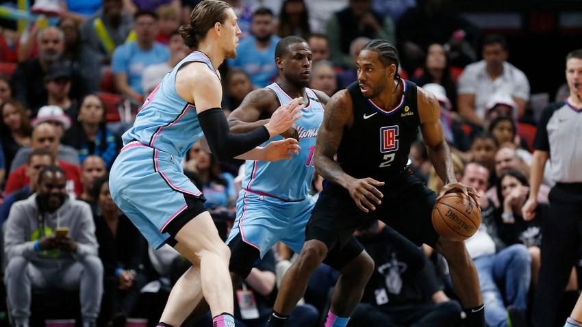 Leonard's 1st Triple-Double Sends Clippers Past Heat 122-117