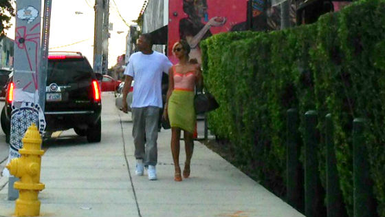 Jay-Z and Beyonce in Wynwood