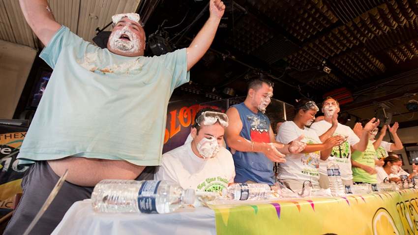 Key lime pie eating contest 2015