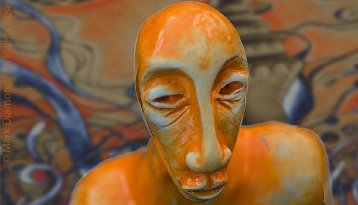 Mark Diamond Orange Man Detail R