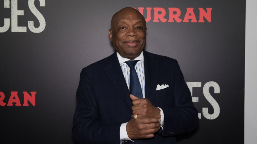 """In this Dec. 15, 2016, file photo, former San Francisco Mayor Willie Brown arrives at the Premiere of """"Fences"""" at Curran Theatre in San Francisco, California."""