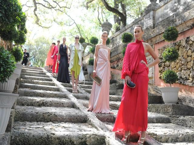 Models in Ferragamo Dresses