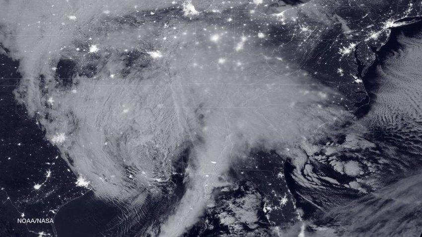 NASA NOAA Winter Storm Blizzard Snow