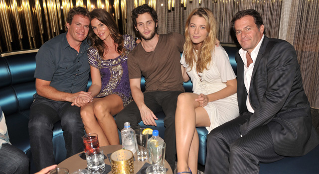 Rande Gerber Cindy Crawford Penn Badgley Blake Lively and Scott Gerber at W Fort Lauderdale