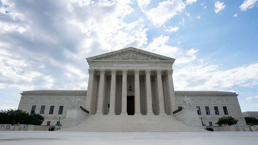In this June 30, 2020, file photo, the U.S. Supreme Court is seen in Washington, D.C.