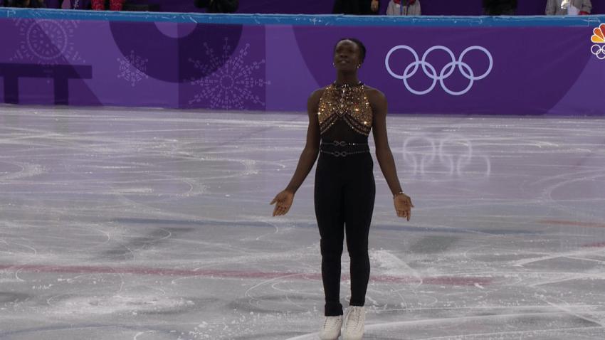 French athlete skates beyonce