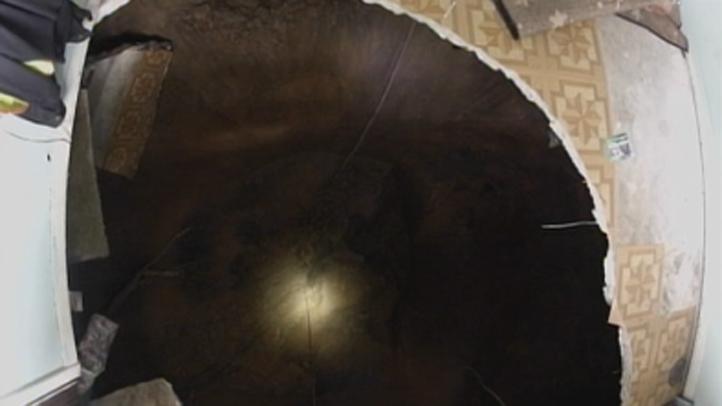 Seffner sinkhole still image