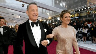 Tom Hanks and Rita Wilson attend the 92nd Annual Academy Awards at Hollywood and Highland on February 9, 2020, in Hollywood, California.