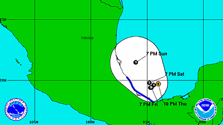 Tropical Depression 10 at 11 pm Thursday